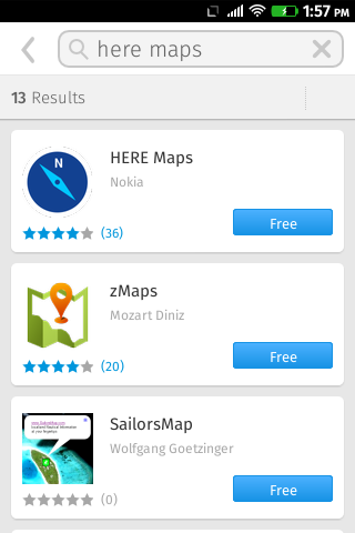 Here Maps im Marketplace