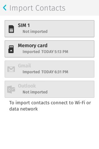 Firefox OS: Kontakte importiert