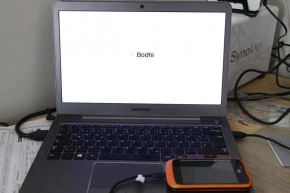 Von ZTE Open gebootet: Bodhi Linux