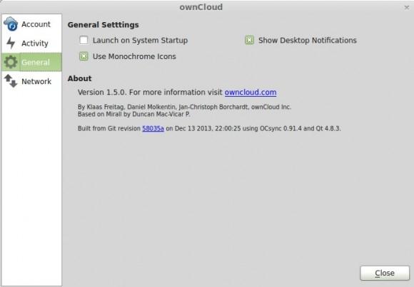 ownCloud Sync Client 1.5
