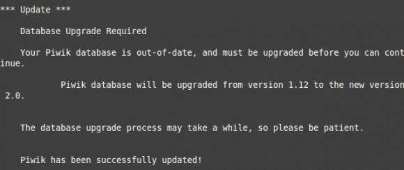 Update auf Piwik 2.0 erfolgreich