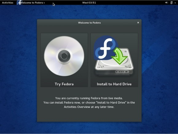 Fedora 20: Bootscreen