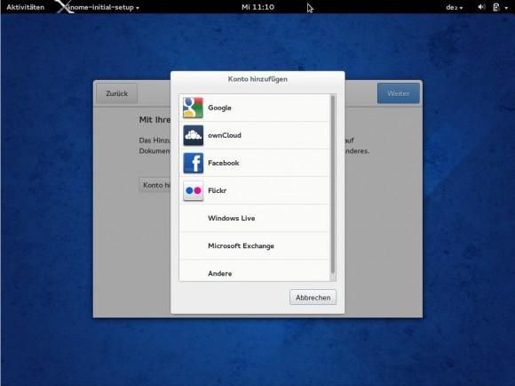 Fedora 20: Mit Cloud verbinden