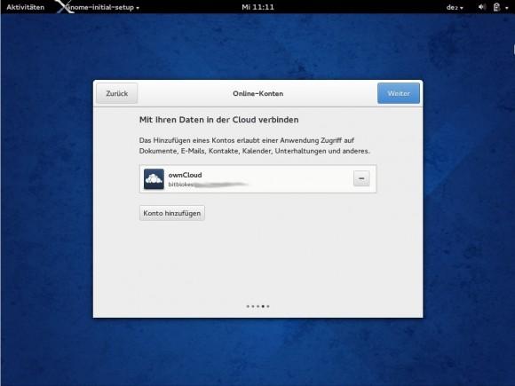 Fedora 20: Mit Cloud verbunden
