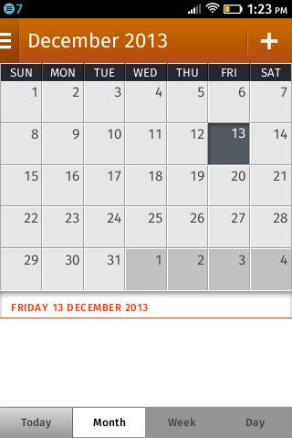 Firefox OS 1.0: Kalender