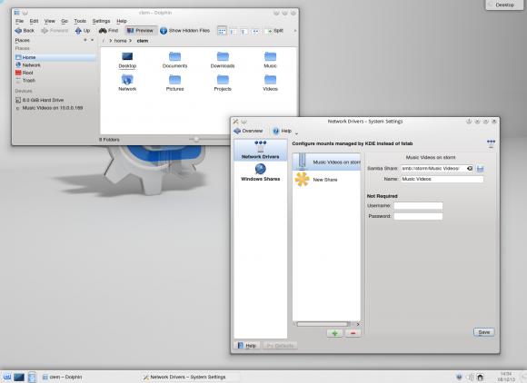 Linux Mint 16: Samba Mounter (Quelle: linuxmint.com)