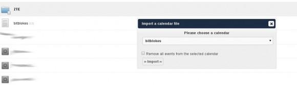 ownCloud: Kalender importieren