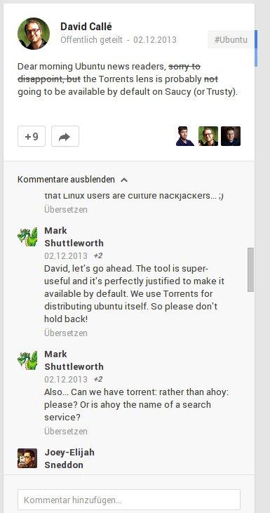 Torrent-Suche im Dash ...