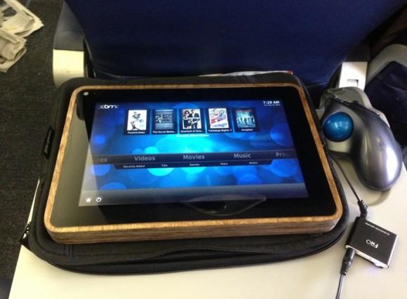 PiPad im Flugzeug (Quelle: mkcastor.com)