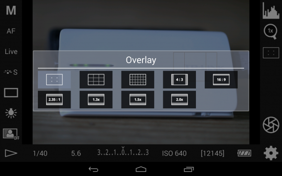 DSLR Controller: Overlay