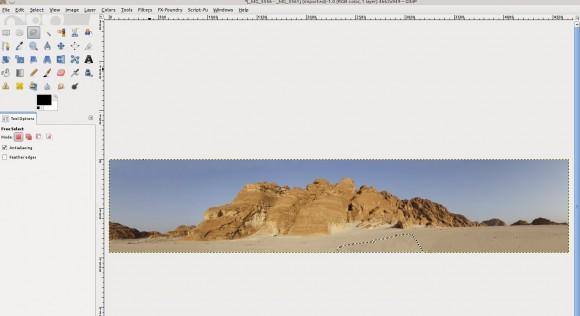 Panorama in GIMP: Fertig
