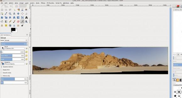 Panorama in GIMP: Start