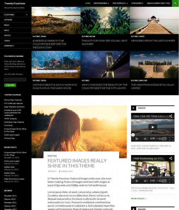 WordPress-Theme: Twenty Fourteen