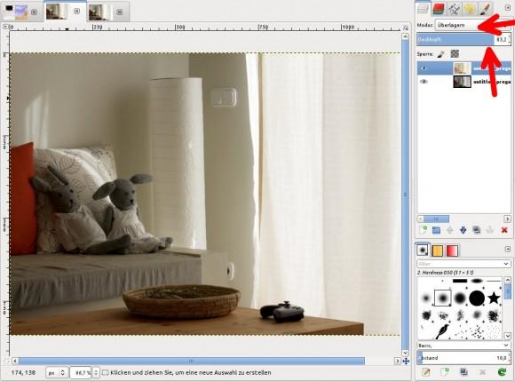 GIMP: zwei Bilder kombiniert