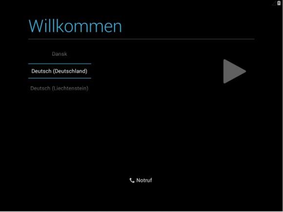 Android-x86: Sprache wählen