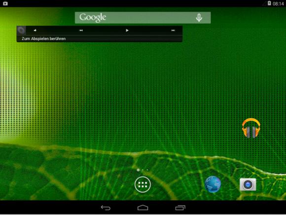 Android-x86: Startbildschirm