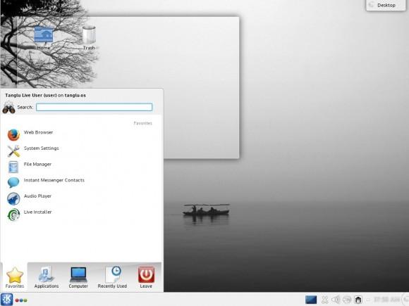 Tanglu 1.0 KDE: Menü