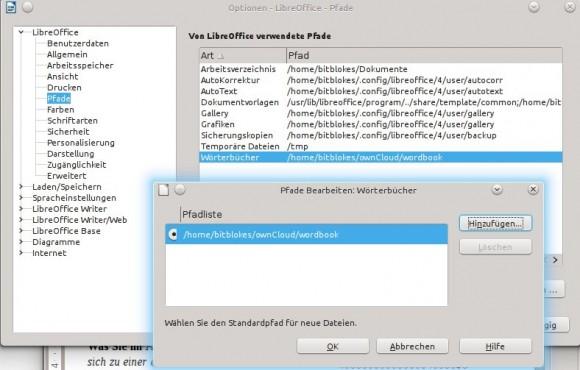 LibreOffice: Wörterbuch-Pfad