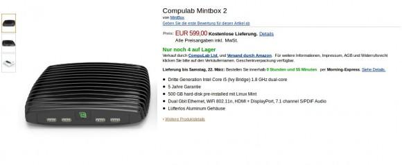 Compulabs Mintbox 2 nun auch in Deutschland erhältlich