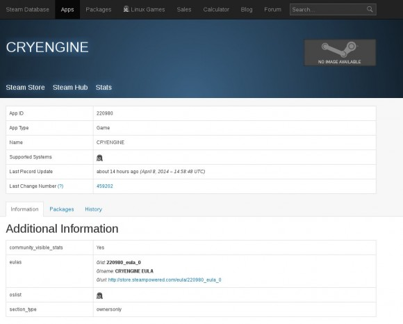 CryEngine in Steam