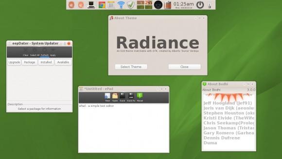 Bodhi Linux: Radiance (Quelle: jeffhoogland.blogspot.com)