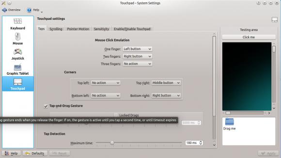 Touchpad-Konfiguration: Kubuntu 14.04