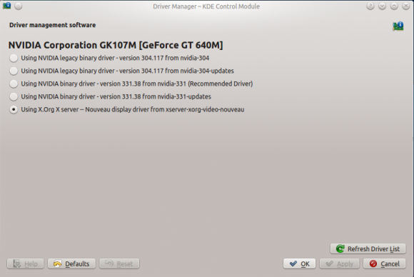 Kubuntu 14.04: Treiber-Manager