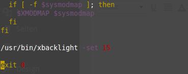 xbacklight in MDM automatisch verwenden