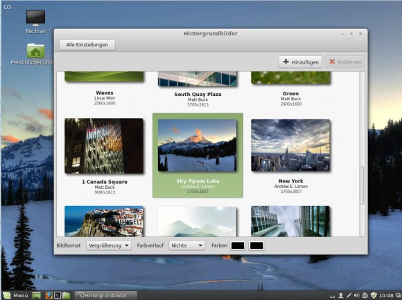 Linux Mint 17: Hintergrundbilder
