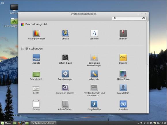Linux Mint 17: Cinnamon-Einstellungen