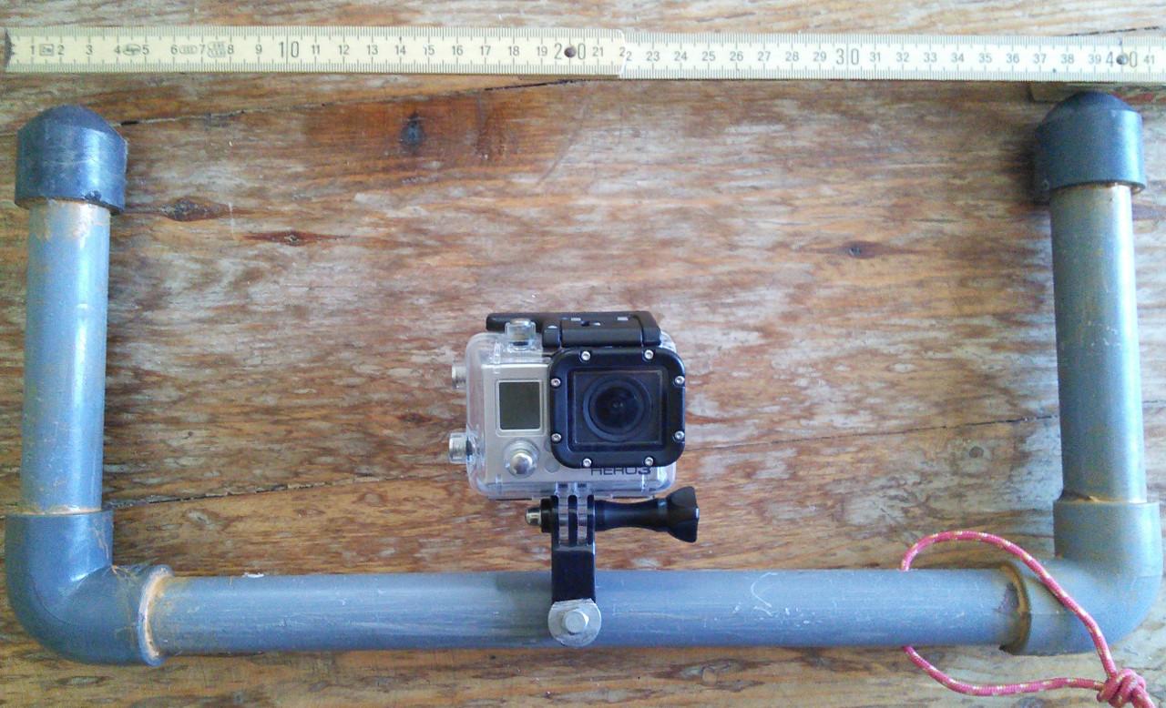 GoPro Griffe: Selbst gebastelt, nun mit Licht-Halterung