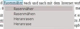 LibreOffice: Rasennäher