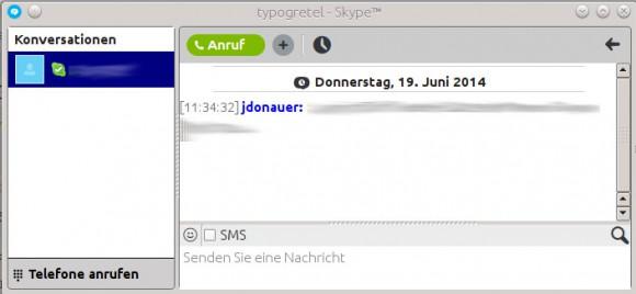 Skype für Linux: Chat