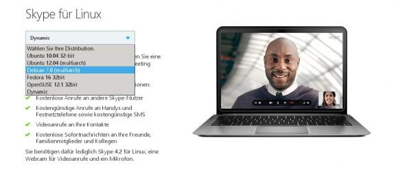 Skype für Linux