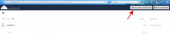 Link mit Browser geöffnet
