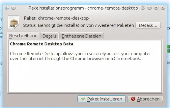 Chrome Remote Desktop: Installation