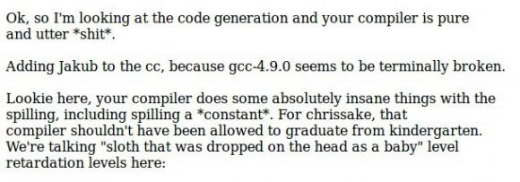 Torvalds: GCC 4.9 ist große Scheiße