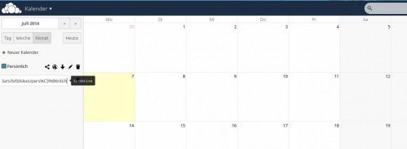 ownCloud 7: Kalender