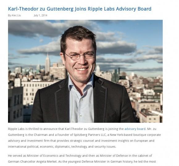 BitCoin-Desaster: Ripple Labs und Guttenberg
