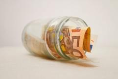 Geldglas mit Euro