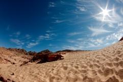 Fußspuren in der Wüste