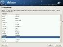 Debian GNU/Linux 6 Squeeze Sprachwahl