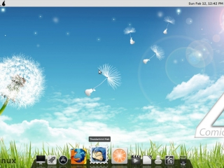Pear Linux 4 Comice Docky