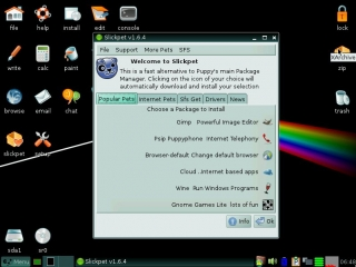 Puppy Linux 5.3 Slacko Slickpet