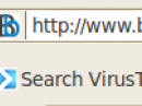 VTzilla: Virus Total Firefox-Plugin oben