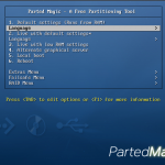 Parted Magic 5 Boot Menu