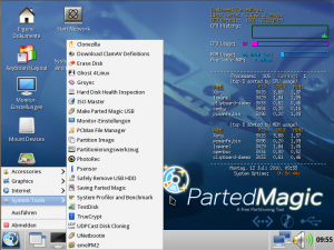 Parted Magic 5 System Tools