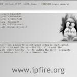 IPFire 2.7 Core 40 Startscreen