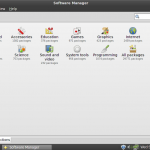 Linux Mint 9 Debian Software Mananger
