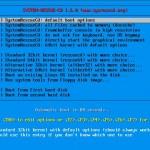 SystemRescueCd 1.6 Bootscreen